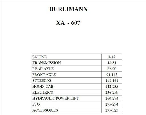 Hurlimann XA - 607 Katalog delova