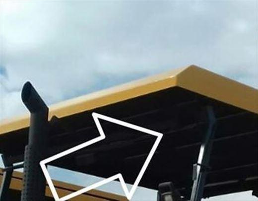 Izrada krova mašine od poliestera (stakloplastika)