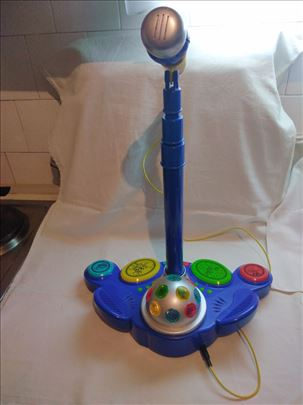 Dečija igračka:Karaoke sa 4 zvuka,2 brzine svetla