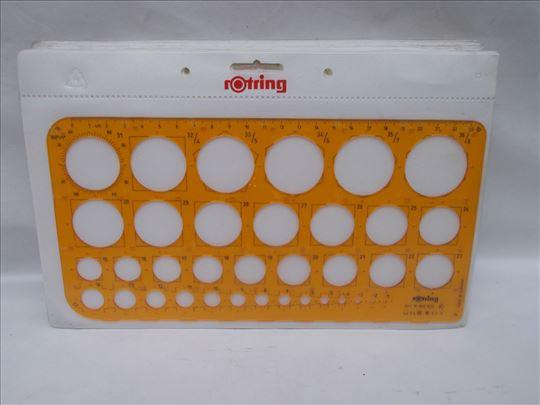 Rotring Lenjir šablon krugovi