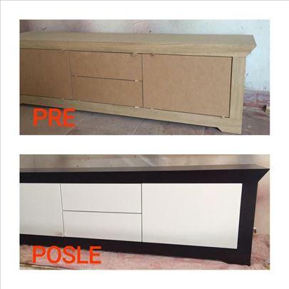 Uslužno farbanje i lakiranje nameštaja i stolarije