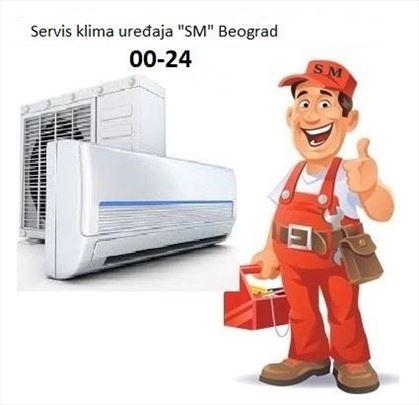 """Servis klima uređaja """"SM"""" Beograd od 00 - 24h"""