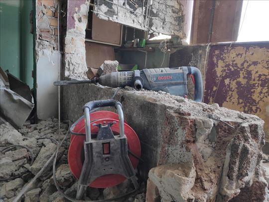 Priprema za majstorske radove (rušenje/odvoz šuta)