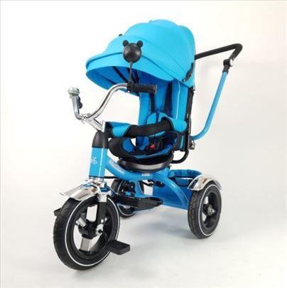Tricikli sa podesivim naslonom model 014 plavi
