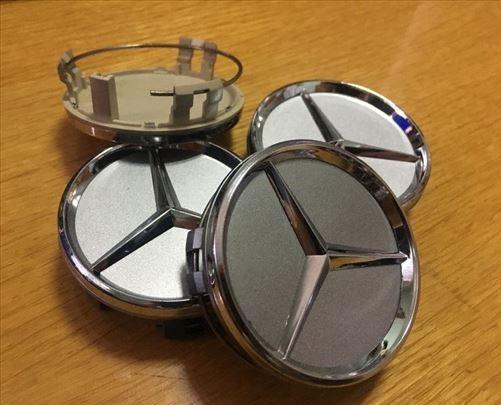 Čepovi Poklopci za felne MERCEDES 60 mm sivi
