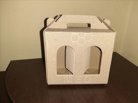 Kvalitetna sklopiva kutija za dve tegle meda