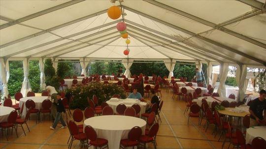 Iznajmljivanje šatora za svadbe