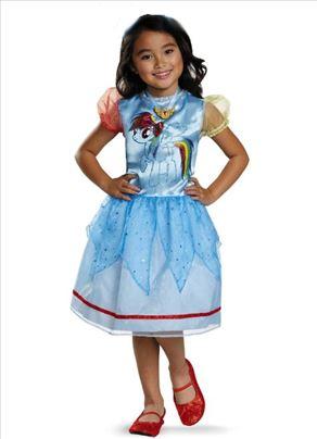 MOJ mali poni haljina za decu kostim rainbow dash