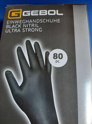 Gebol  ekstrajake zaštitne rukavice crne, 80 kom