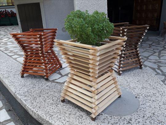 Drvene saksije za cvece