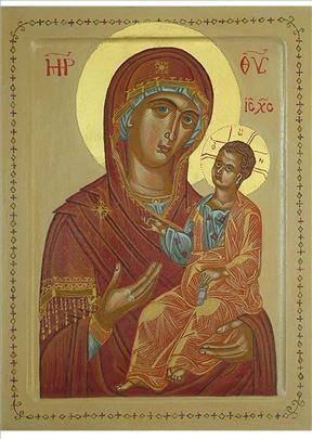 Bogorodica sa Hristom, ikona, 26x20 cm