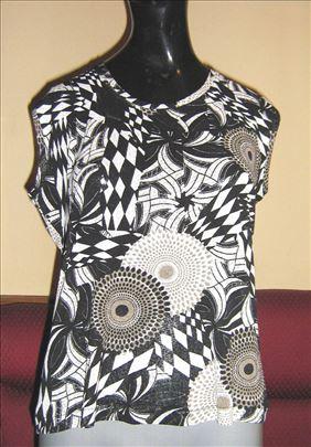 Crno-bela majica bez rukava