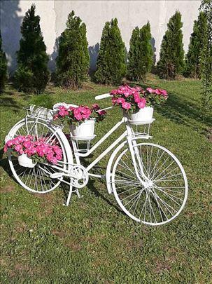 Starinski bicikl kao stalak za cvece