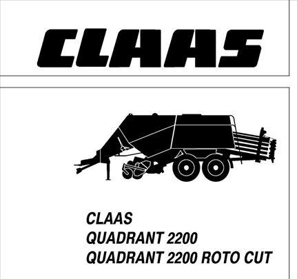 Claas Quadrant 2200 (RC) Radionički priručnik