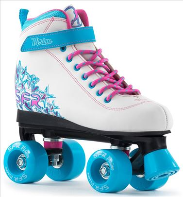 Rolšue! - SFR Vision II Quad skates white/blue