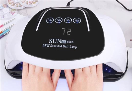 Uv/led Sun H5 plus 96w lampa za dve ruke.