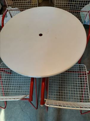 Baštenski sto i stolice