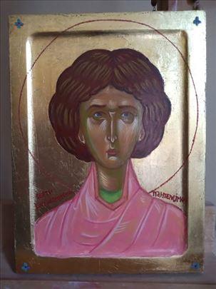Sveti Pantelejmon, ikona, 20x15