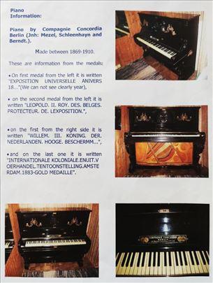 Unikatan pianino iz 1883 proizveden u Berlinu