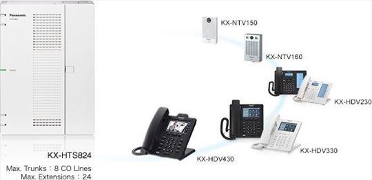 Panasonic KX-HTS824, telefonska centrala, novo