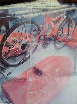 Bicikl za vodenu površinu i kopno