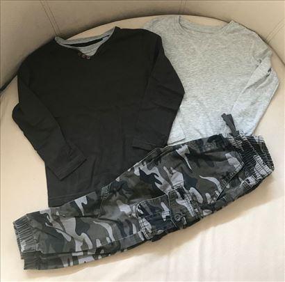 Maskirne pantalone i 2 majice