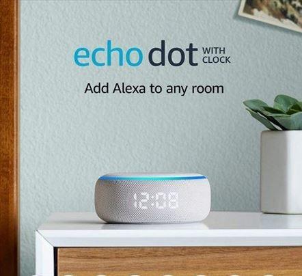 Amazon Echo Dot sa satom Alexa Promo Cena