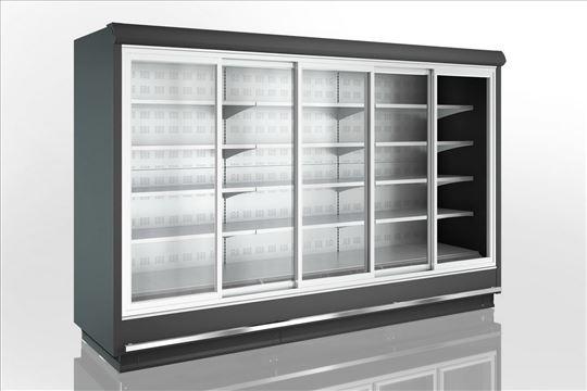 Zidni uspravni hladnjak/vitrina s vratima
