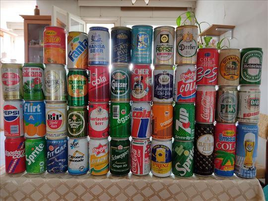 Prodajem svoju kolekciju limenki od piva