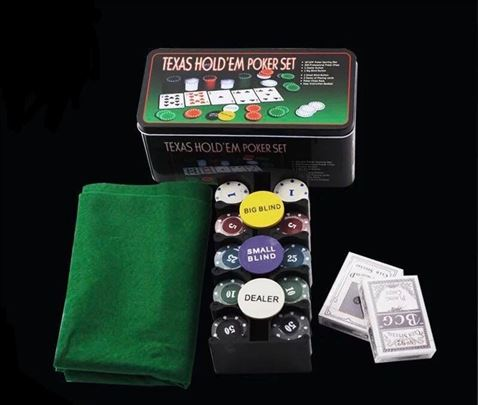 Poker set TEXAS HOLD EM poker set