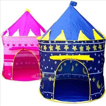 Šator-šator kućica-šator za igru - dvorac roze