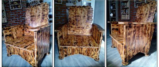 Fotelja, unikatan rad od drveta