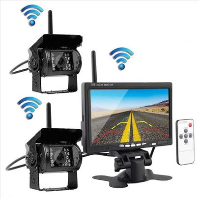 Monitor 7inci + dve wifi bezicne kamere za kamione