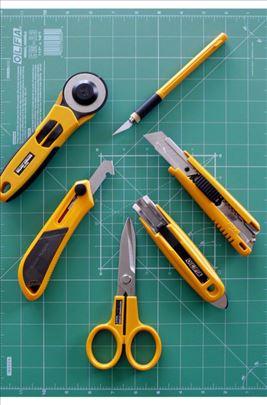 Olfa alat skalpeli, stugači, mape, nožići, hobi