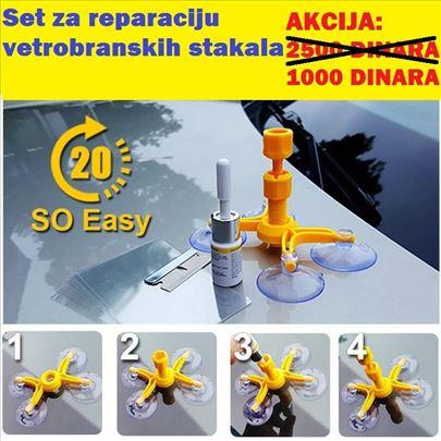 Reparator set za reparaciju vetrobranskih stakala