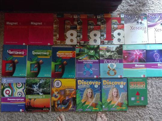 Knjige za 8 razred za Beograd donosim