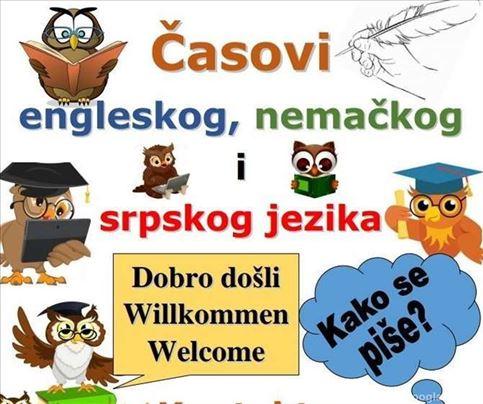 Online časovi - nemački, engleski, srpski