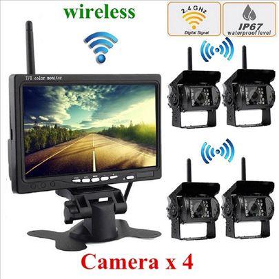 Monitor 7inci + 4 wifi bezicne kamere za kamione,k