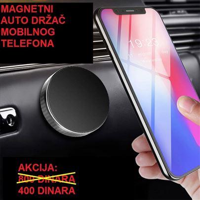 Dugme - magnetni drzač za mobilni telefon - Crni