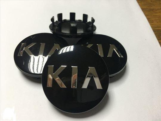 Čepovi Poklopci za felne KIA 58 mm 50 mm - crni