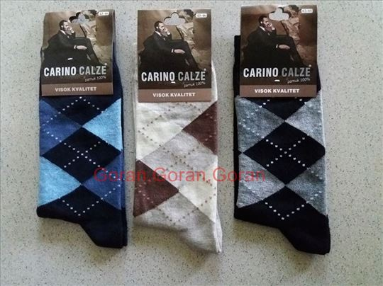 Čarape kvalitetne karirane Vel;43-46