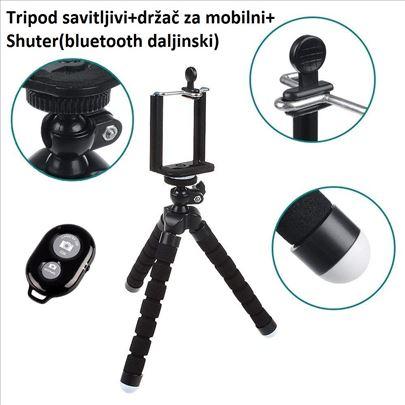 Fleksibilni stalak za mobilni telefon-Tripod-Crni
