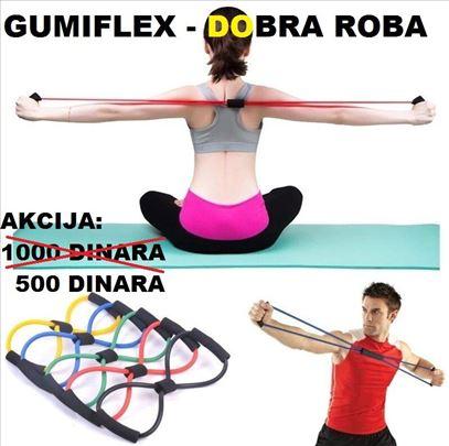 Gumiflex - elastična sprava za vežbanje - crvena