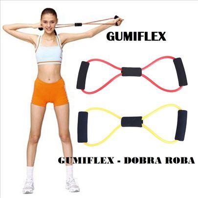 Gumiflex - elastična sprava za vežbanje - zelena