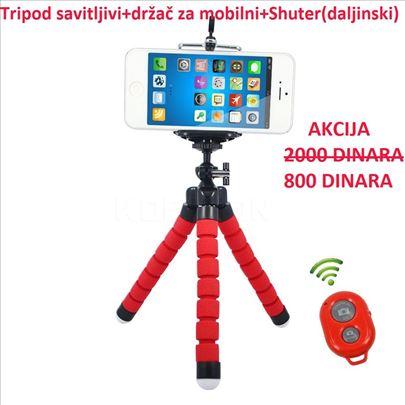 Stalak za kameru, fotoaparat ili mobilni - Tripod