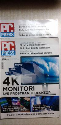 Casopisi PC Press 2x br.209 i 2x br.210,cena za ko