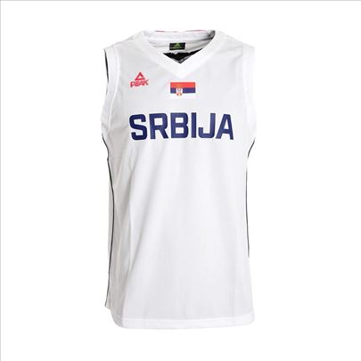 Košarkaški dres Srbija beli muški Peak