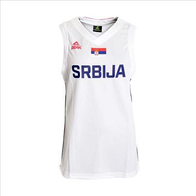 Košarkaški dres Srbija beli ženski PEAK