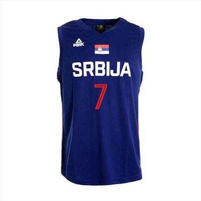 Košarkaški dres Srbija plavi muški Peak – ime i br