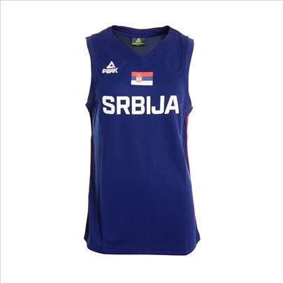 Košarkaški dres Srbija plavi ženski Peak